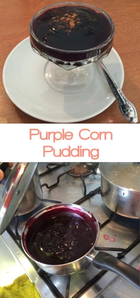 purple corn pudding
