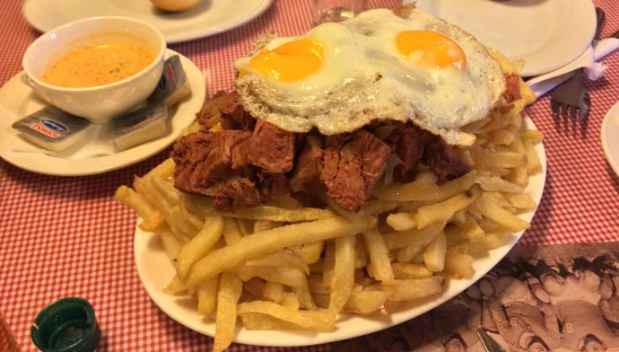 This Is Chorrillana A Por Dish In Chile It S Beef And Egg On Top Of Pile French Fries I Ve Been Losing Weight Even Eating