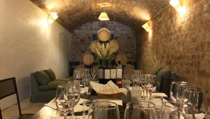 Mendel winery cellar