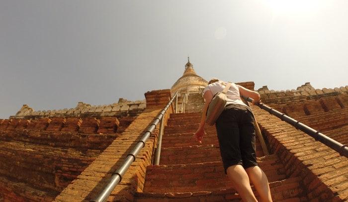 steep climb pagoda