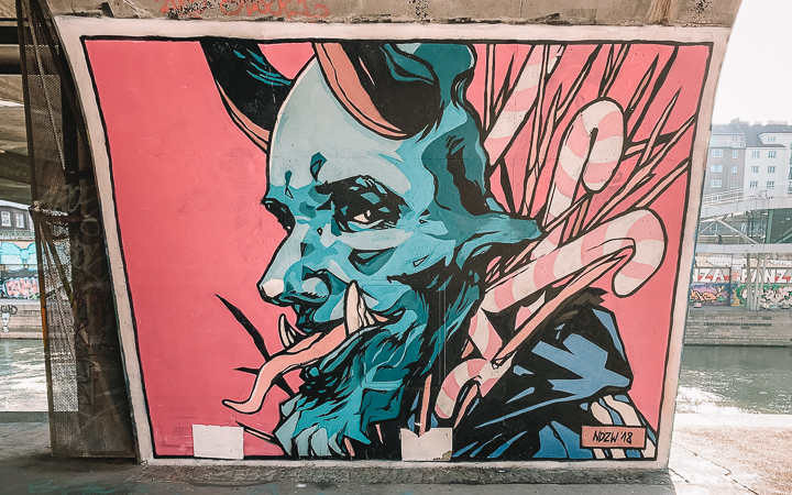 Vienna Street Art - Pink Devil