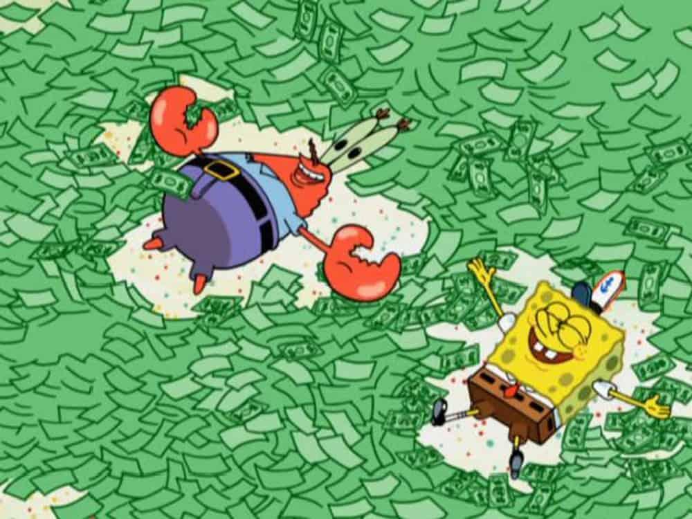spongebob money angels